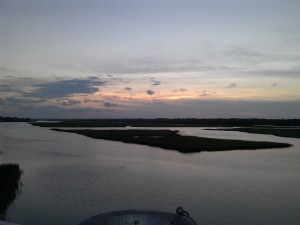 The Intracoastal Waterway at Ocean Isle Beach where we've vacationed since I was in the 11th grade